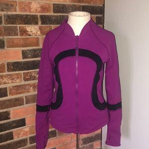 Reversible Lululemon Purple & Black ZIP Jacket